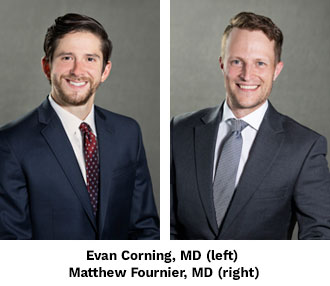 Lake Tahoe Sports Medicine Fellows 2021-21: Evan Corning, MD and Matthew Fournier, MD